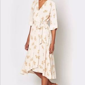 Joie Daymon B Floral Wrap Belted V Neck Dress NWT